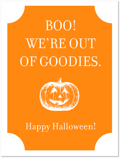 photo relating to Happy Halloween Signs Printable titled Printable Halloween Sweet Indications