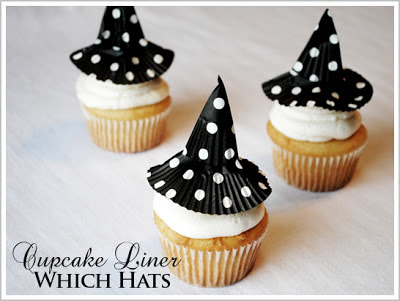cupcakes con sombrero de bruja