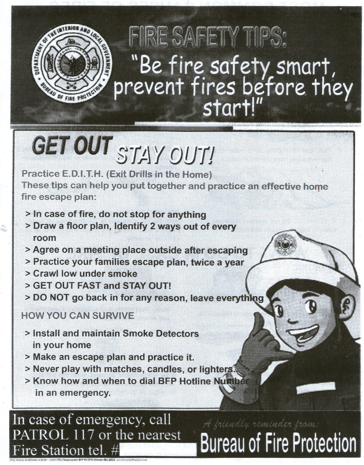BUREAU OF FIRE   FIRE SAFETY TIPS Amazing Ideas