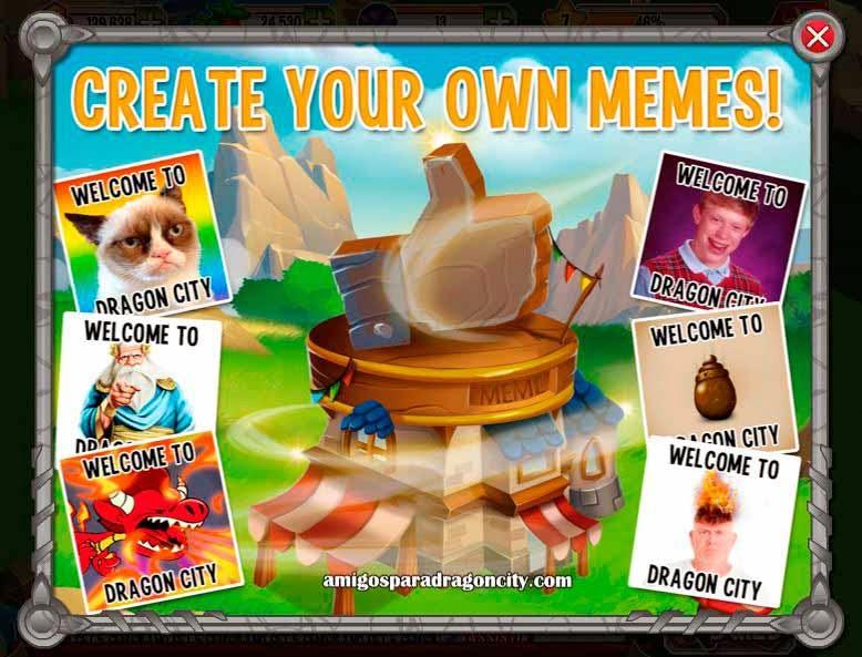imagen del edificio generador de memes de dragon city
