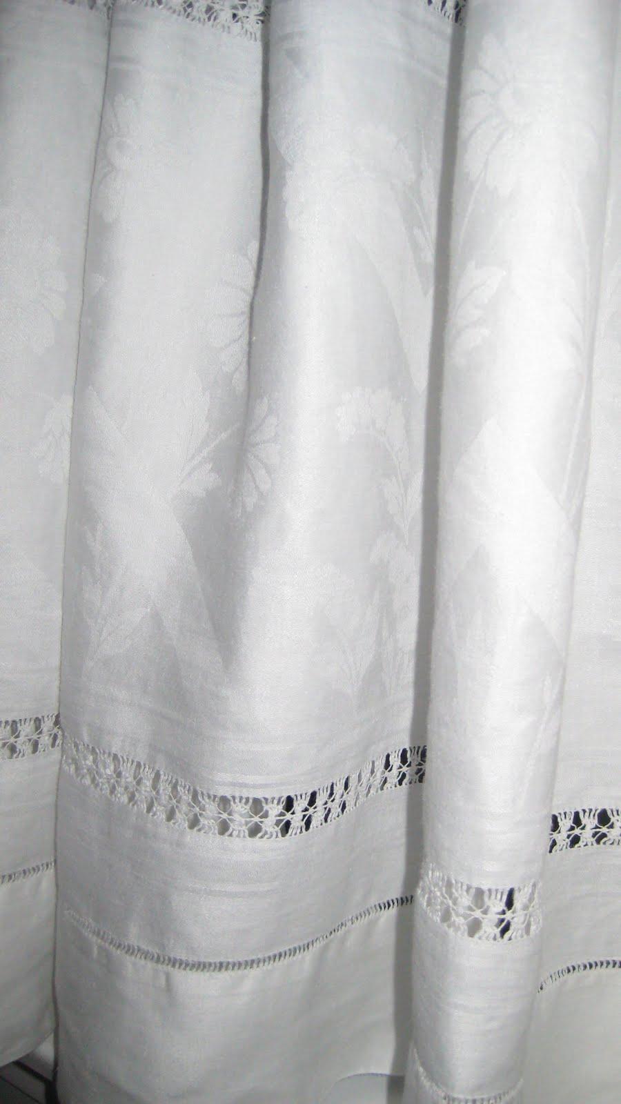 Linen Shower Curtain Restored treasures too: white linen shower ...