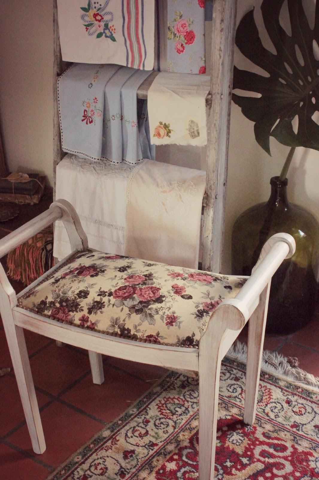 Tienda la florinda pintura y retapizado - Bancos estilo vintage ...
