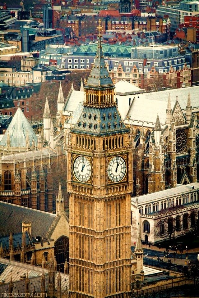 big ben london aerial view