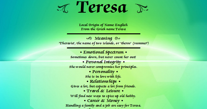Teresa meaning of name for What is the significance of pi s unusual name