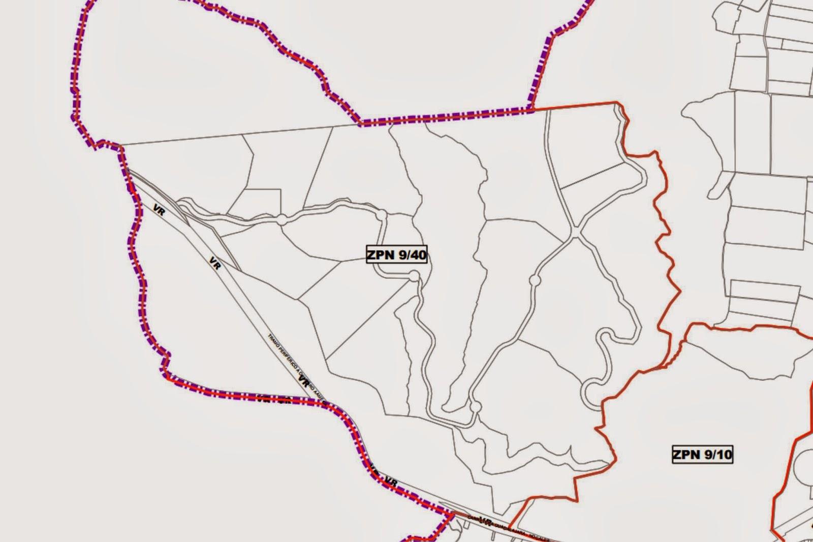 Plan parcial del fraccionamiento en Cerro El Tepopote
