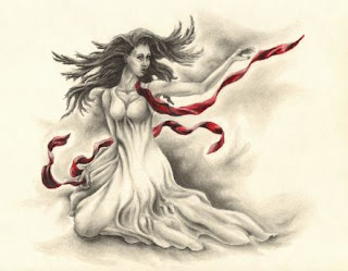 figurative drawings, fantasy artworks, woman