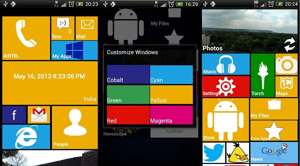 Windows 8 Theme on Android, Windows 8 Launcher for Android