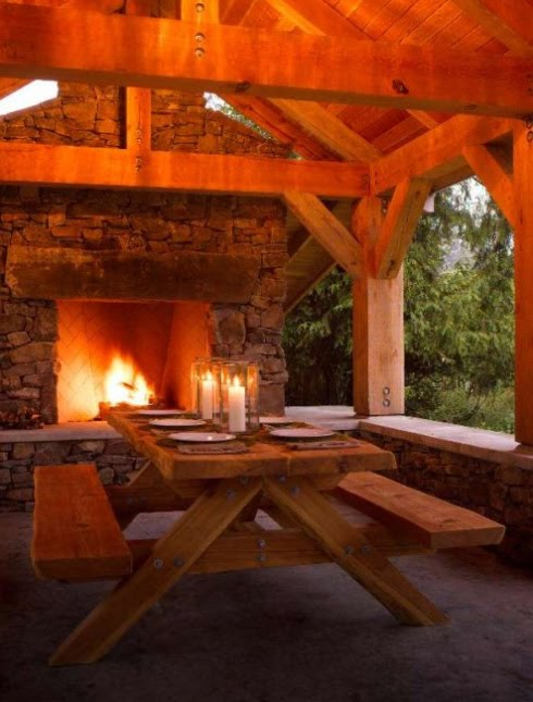 Perfect outdoor room with fireplace content in a cottage for Outdoor room with fireplace