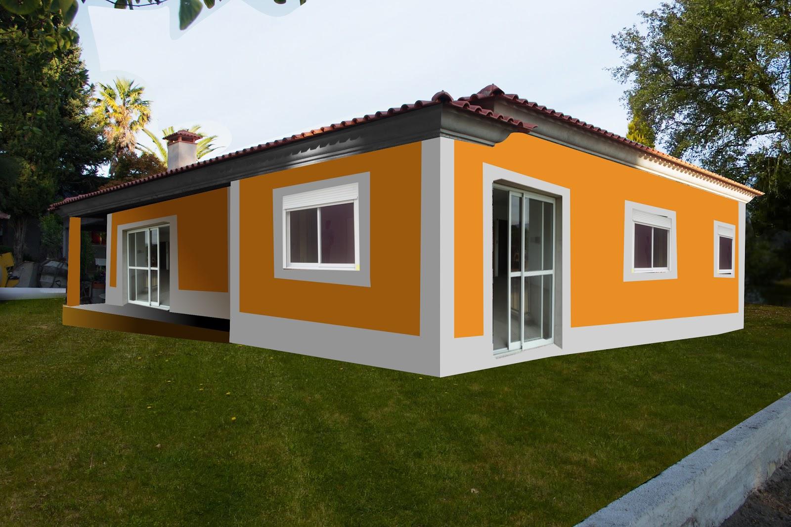 Di rio da nossa casa pintura exterior proyecto for Colores para techos de casas