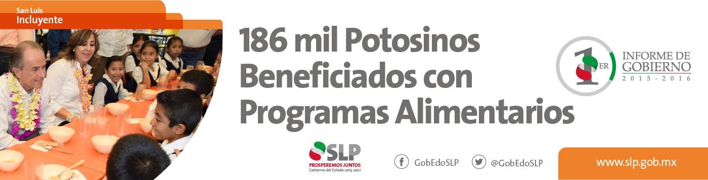 186 mil potosinos beneficiados con programas alimentarios #SLPIncluyente #1erInformeGobSLP