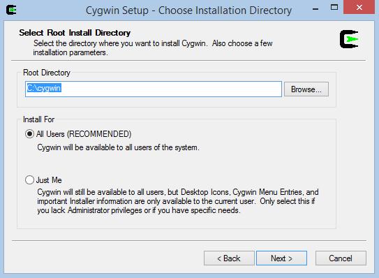 Cygwin Setup 3
