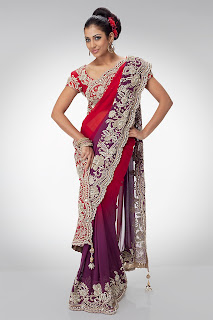 Latest Bridal Party Wear Sarees Collection 2013
