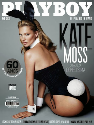 Revista PlayBoy México Kate Moss Enero 2014