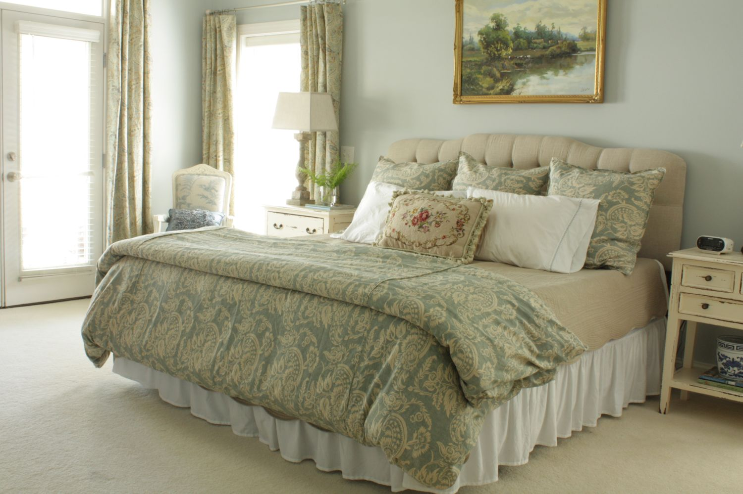 The comforts of home master bedroom tour Master bedroom with drapes