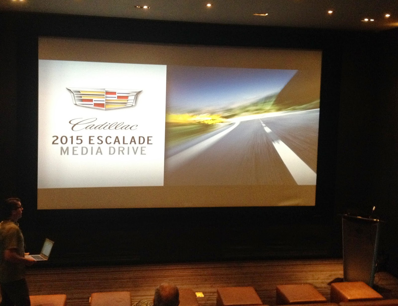 Presentation at The Hazelton for the Cadillac 2015 Escalade Media Drive