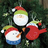 Holiday Trio Felt Christmas Ornaments Kit