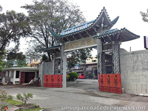 the gate of Lon Wa Buddhist Temple in Davao City, Philippines