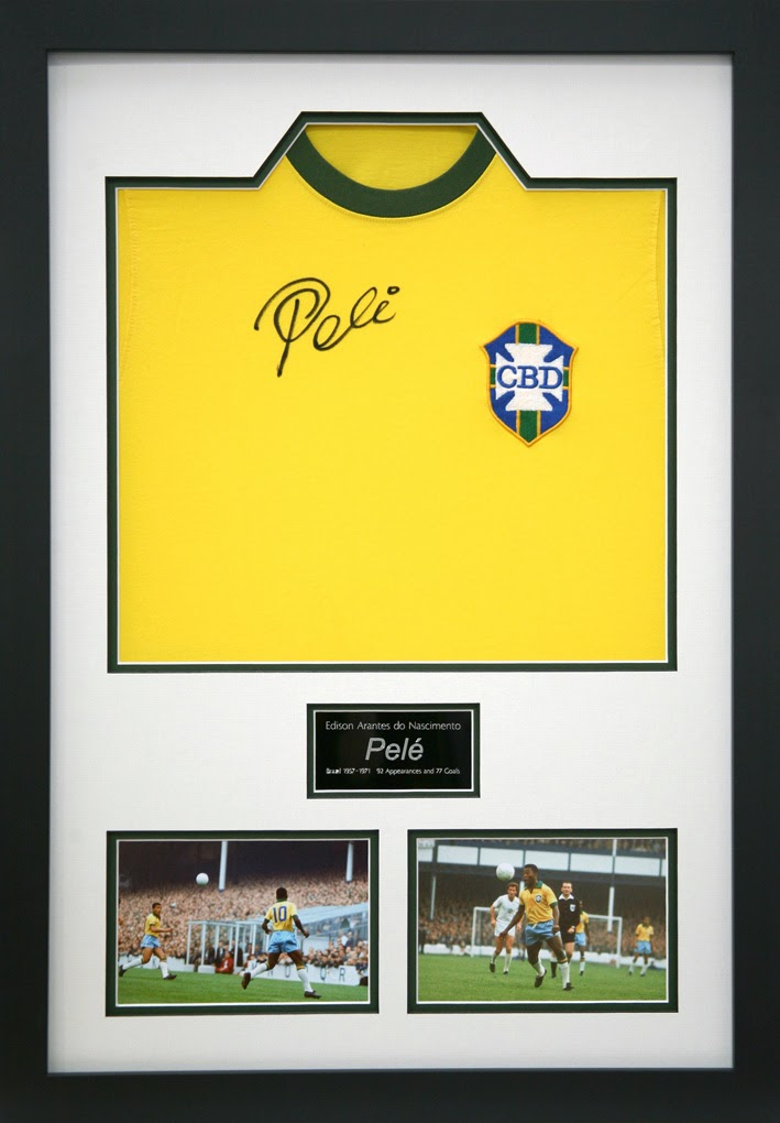 Football shirt framing with photo and engraved plaque
