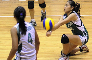 St. Benilde's libero Rica Enclona meshed looks with abilities