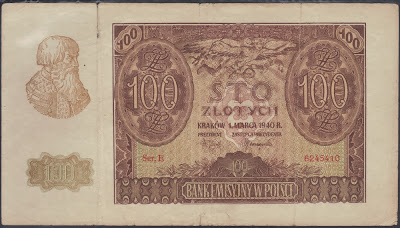 Polonia 100 Zlotych 1940 P# 97