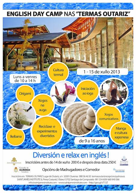 English Day Camp en Termas Outariz, Diversión y relax en inglés!, curso inglés