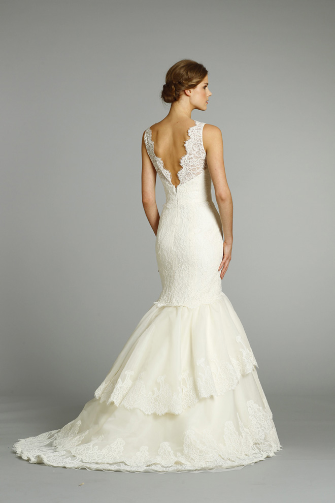 lace back wedding dress bridal gown jim hjelm fall 2012 style