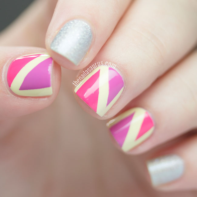 Bright Geometric Nail Art by The Nailasaurus