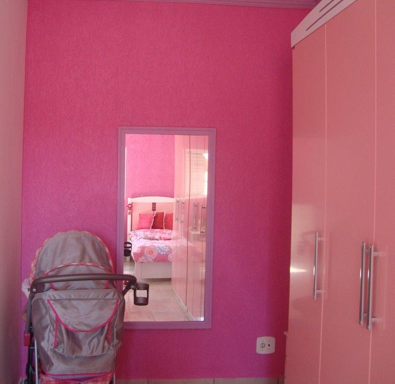 Reforme&Pinte Pintura para quarto de bebê menina  ~ Quarto Rosa Forte