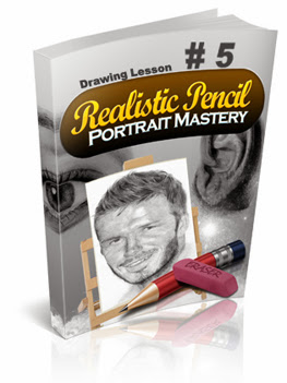 How To Draw Realistic Hair Like A Master : realistic pencil portrait mastery home study course