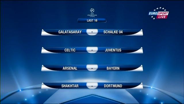 Champions League Achtelfinale Auslosung 2012/13