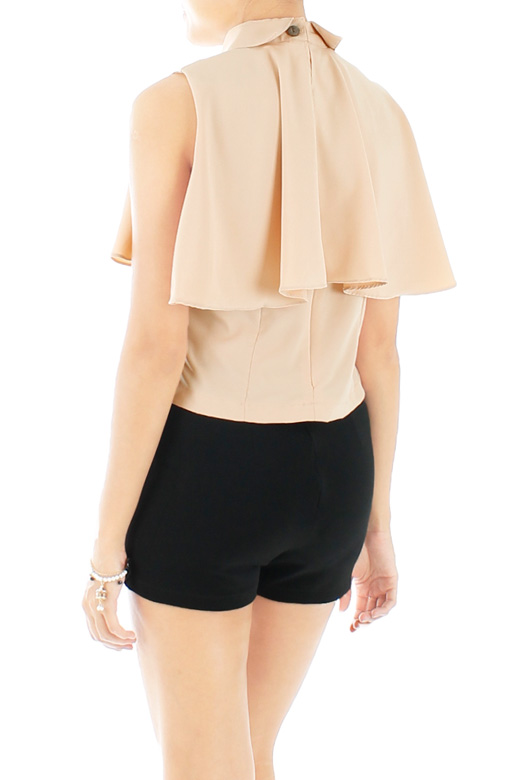 Champagne Mini Cape Top with Collars