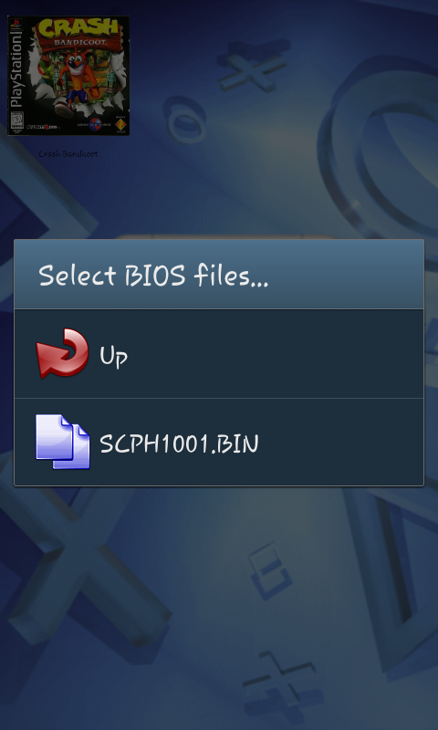 "PS : Another way to specify the BIOS file, select ""SETTINGS"" instead ..."
