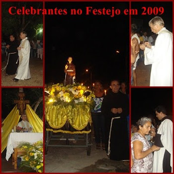Celebrantes no Festejo do Santo Frei Galvão em outubro de 2009