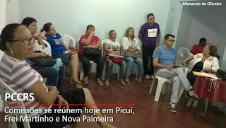 PCCRS será discutido em Picuí, Nova Palmeira e Frei Martinho