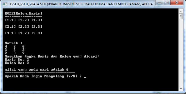 Program Mencari Bilangan pada ARRAY C++