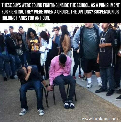 Fighting Inside The School Funny Images