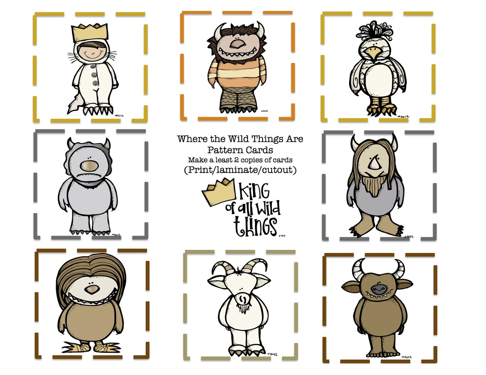 Free Printable Where The Wild Things Are Coloring And