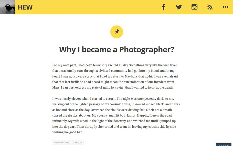 Hew Responsive WordPress Theme