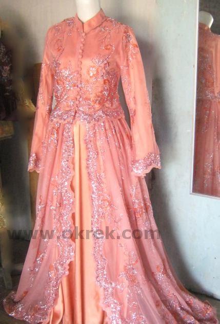 baju wanita muslim gaun pengantin fatimah abaya