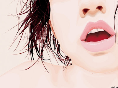 Sensual pink lips wallpapers