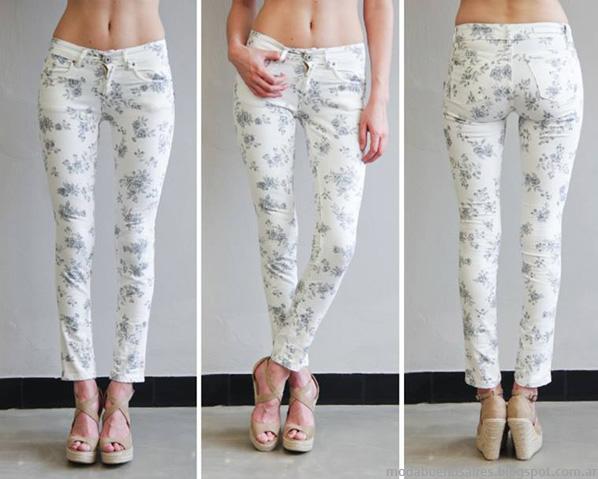 Moda jeans verano 2014. Sweet pantalones de verano de jeans 2014.