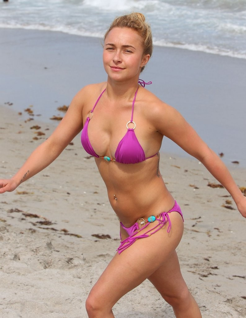 Hayden Panettiere - wearing a bikini on the beach in Miami Hayden Panettiere Rumors