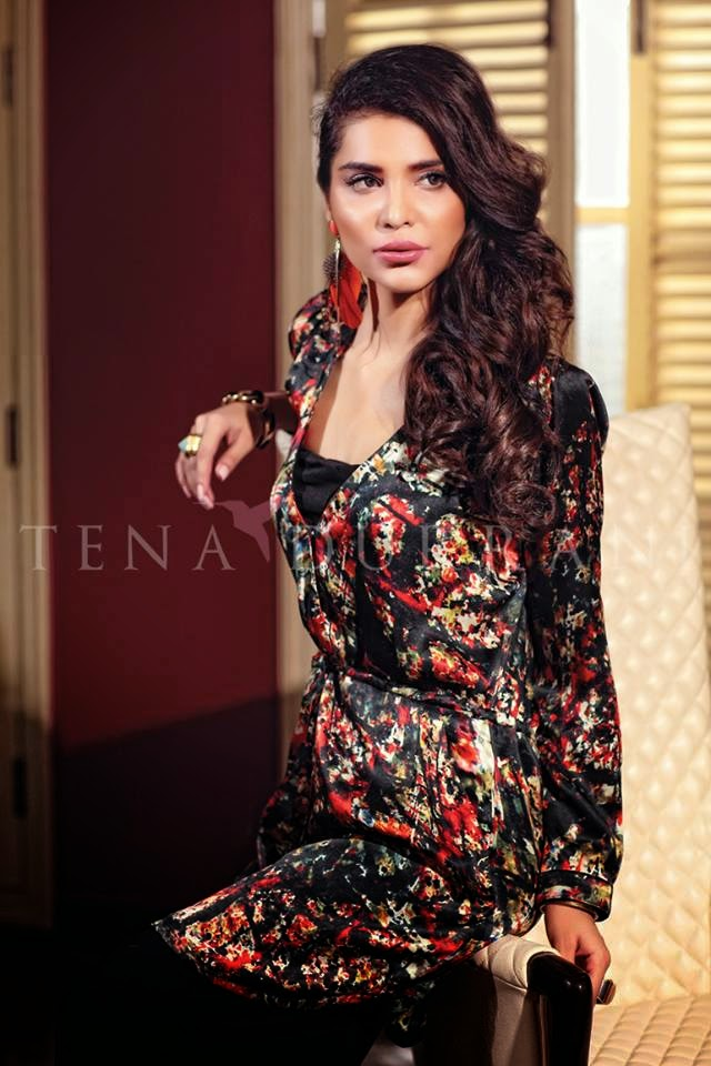 Tena Durrani lawn digital prints collection 2015