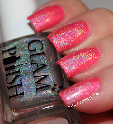 Glam Polish - Sweet Pea with top coat of Gliss