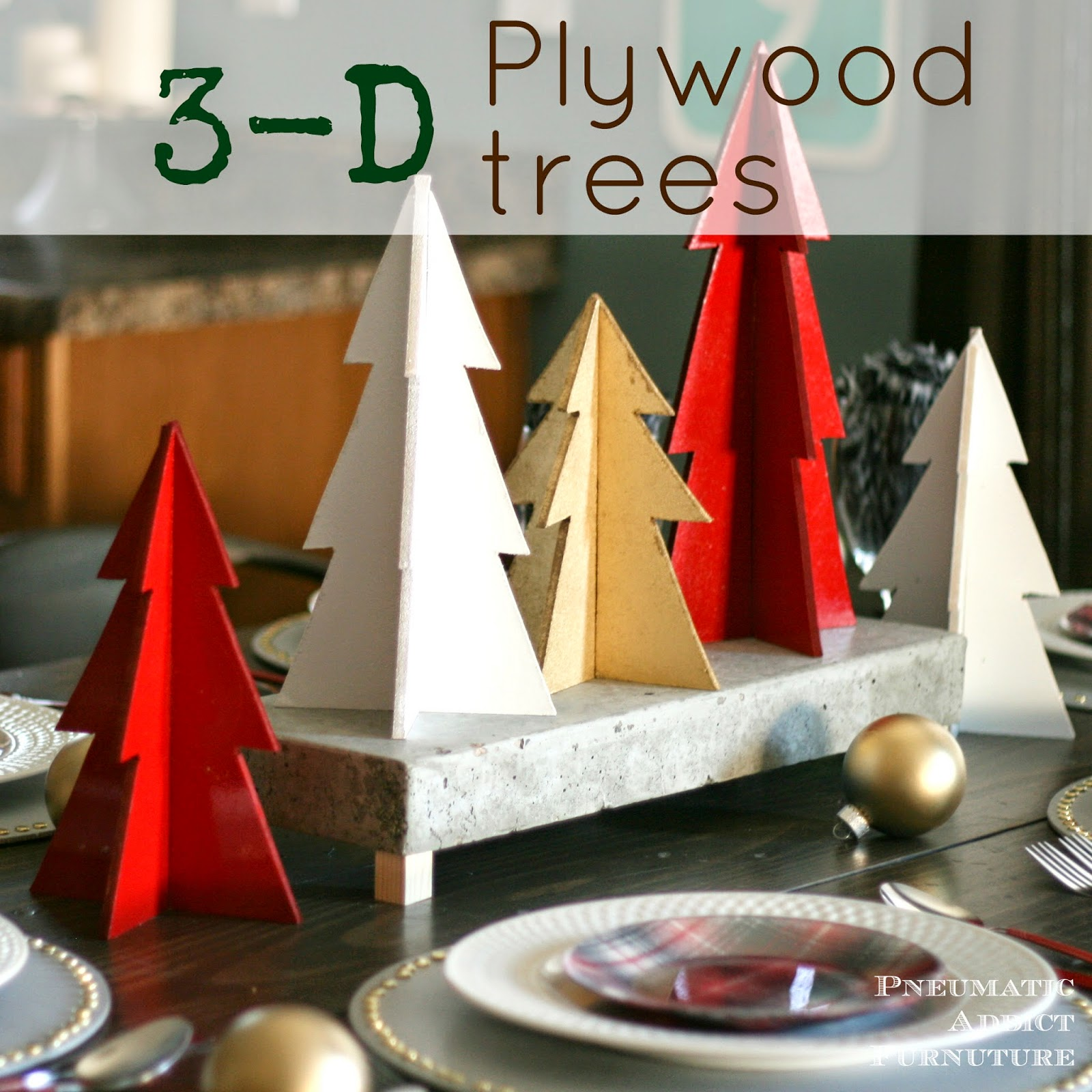 Wood christmas tree cutout - A Little While Back I Shared With You My Leg Of The 12 Days Of Christmas Tablescapes Tour Put Together By My Friend Jen From House Of Wood