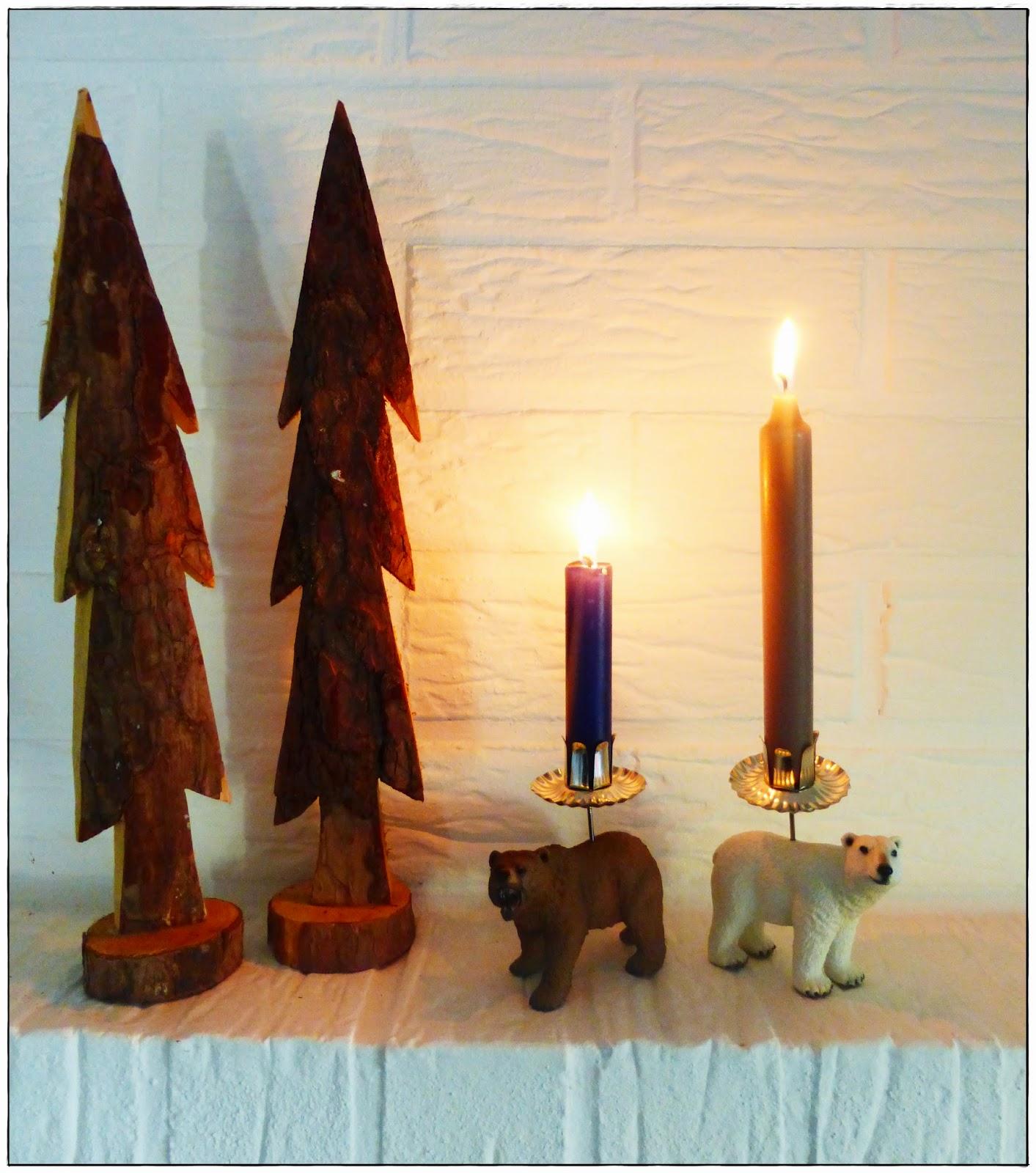 DIY Upcycling Kerzenständer Schleichtiere