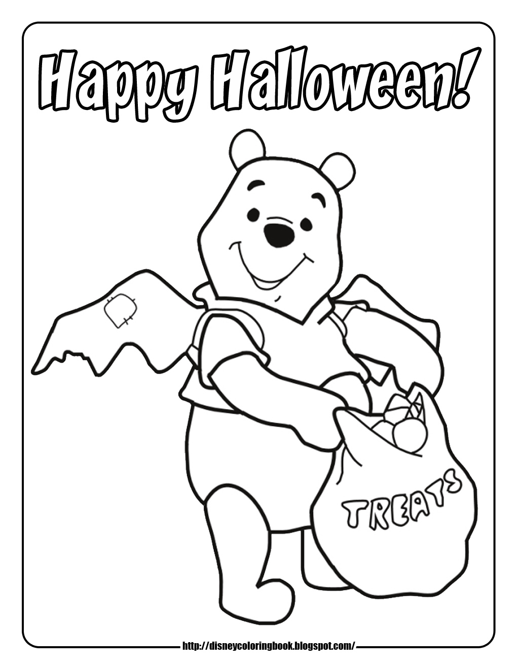 Halloween Coloring Pages Piglet Carving Pumpkin Trick Or Treat Winnie The Pooh