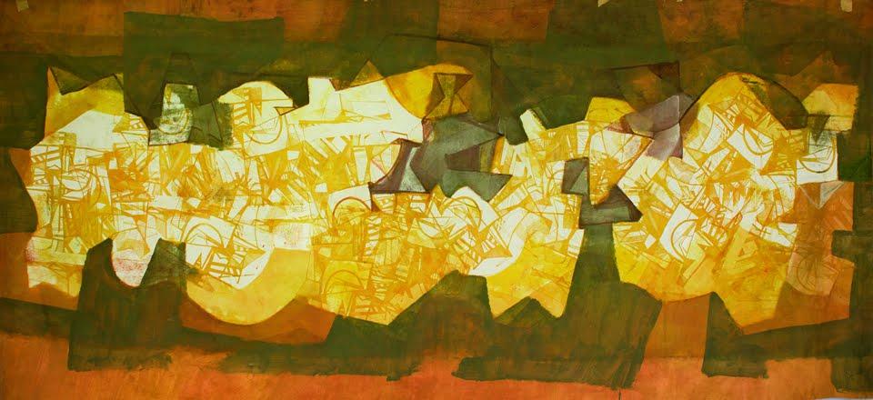 Roberto Burle Marx. 'Panneau'. Tinta gráfica sobre tecido, 1993. 175 x 286 cm.