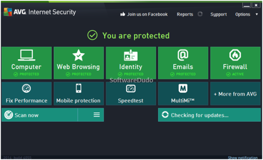 AVG Internet Security 2014 - Main Interface