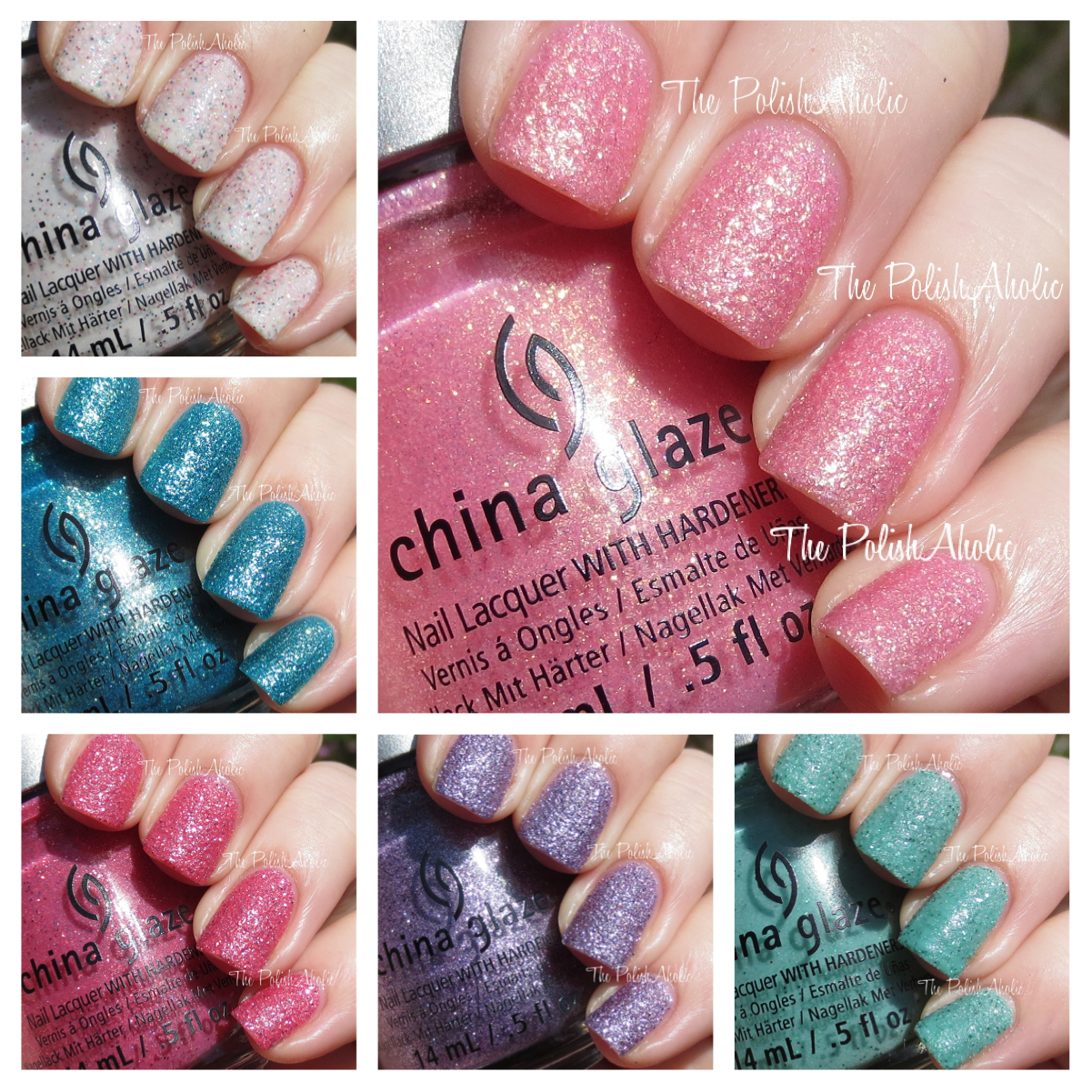 The polishaholic china glaze sea goddess collection swatches sand dolla make you holla is multicolored glitter in an off white creamy textured base the base leans towards being a light pink the formula was ok m4hsunfo